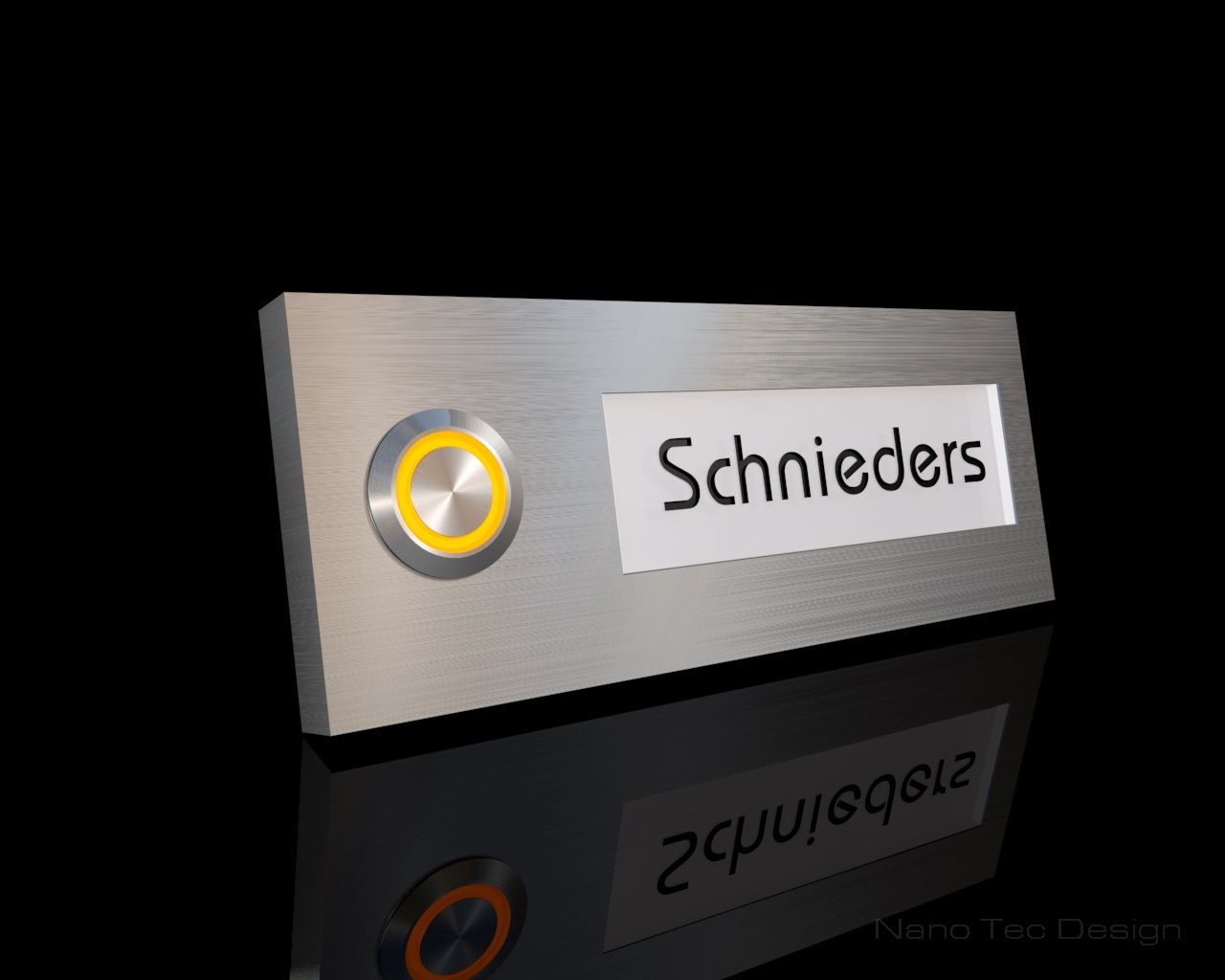 Design Edelstahlklingel mit Led-Namesbeleuchtung