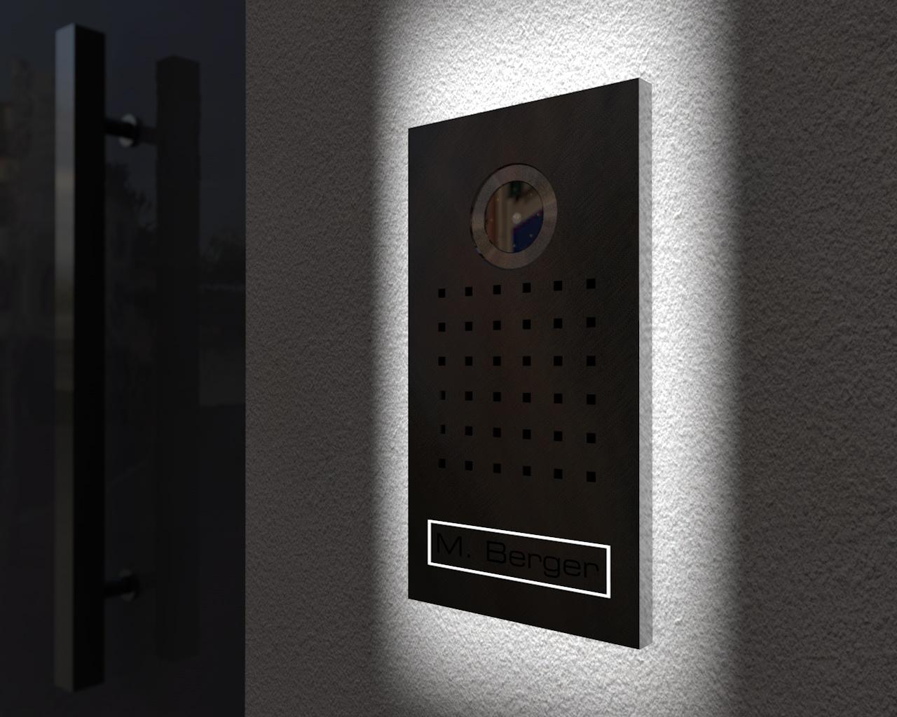Video Türsprechanlage 15x27cm; mit Led-Hintergrundbeleuchtung